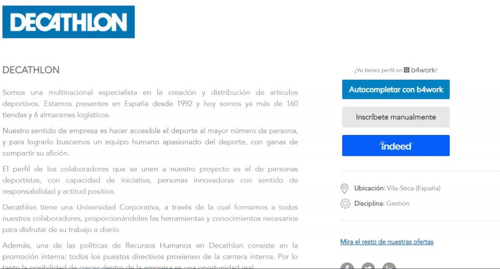 mandar curriculum a decathlon