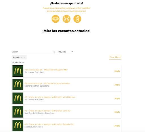 Mandar tu curriculum a McDonalds