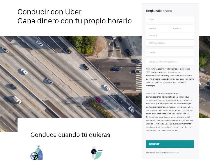 trabajar en uber