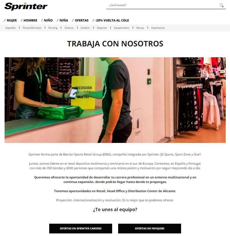 trabajar en sprinter